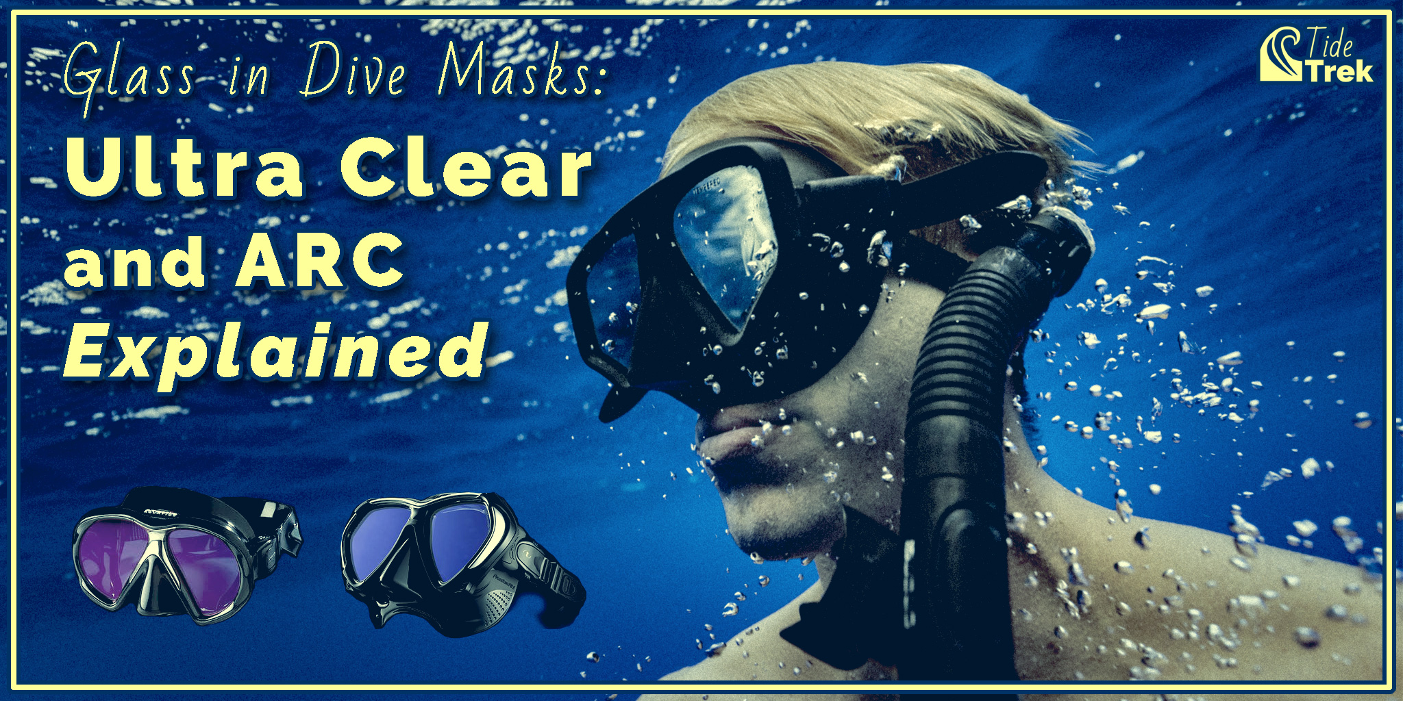 Glass in dive masks: Ultra clear and ARC explained